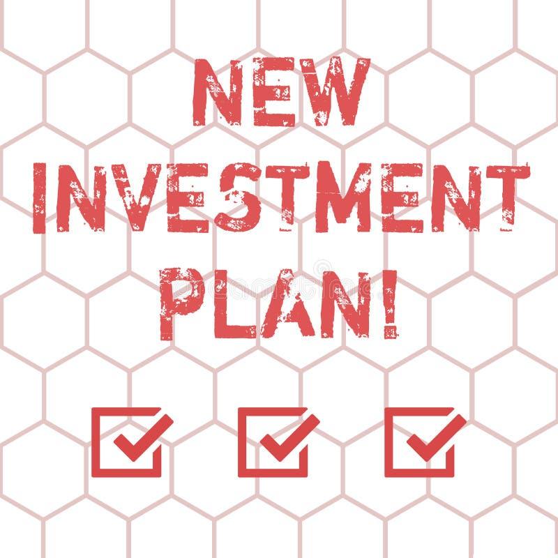 Пишущ показу примечания новый план капиталовложений Инвесторы фото дела showcasing делают регулярные равные оплаты во взаимное иллюстрация штока