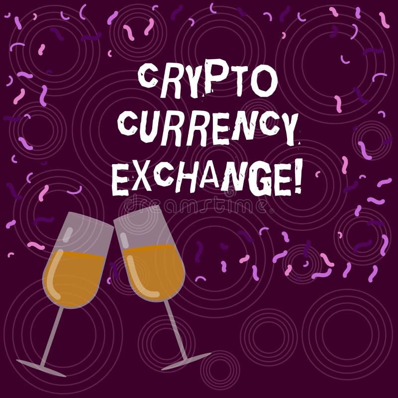 Пишущ показу примечания секретный обмен валюты Торговая операция фото дела showcasing цифровых валют для других имуществ иллюстрация штока