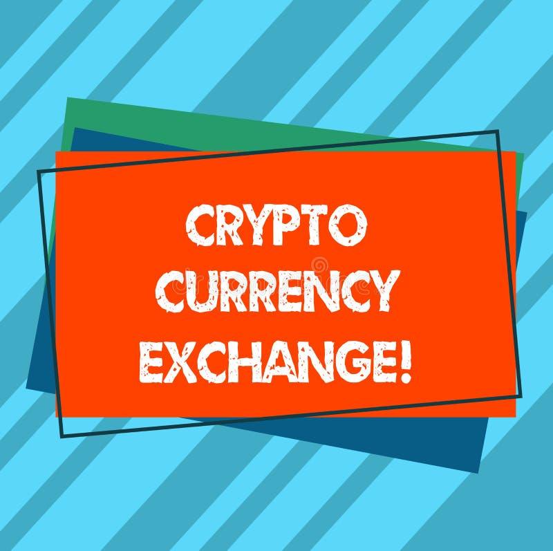 Пишущ показу примечания секретный обмен валюты Торговая операция фото дела showcasing цифровых валют для других имуществ бесплатная иллюстрация