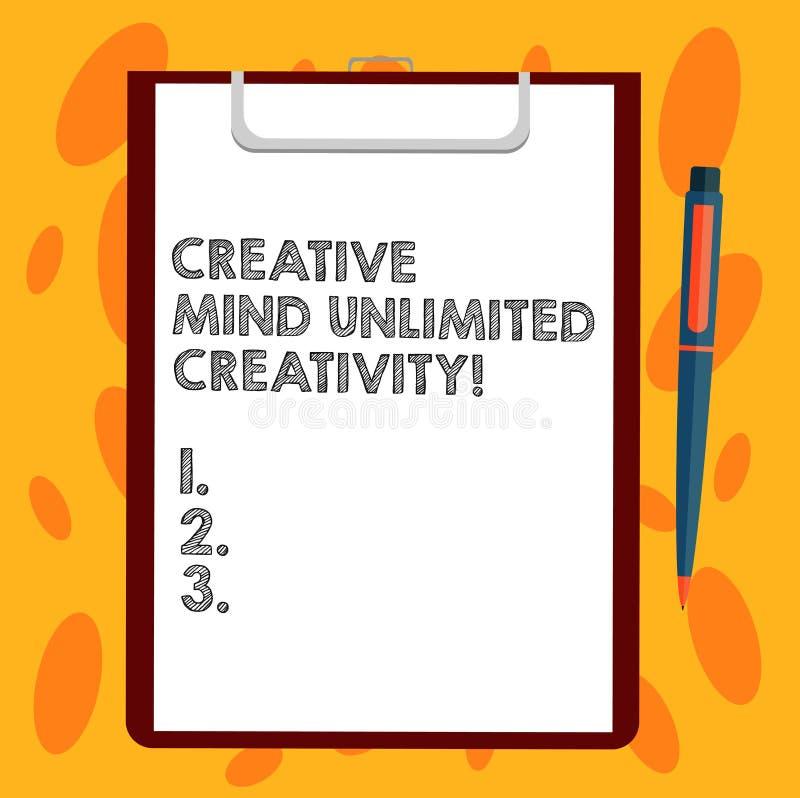 Пишущ показу примечания творческий разум неограниченные творческие способности Фото дела showcasing вполне оригинальных идей гени бесплатная иллюстрация
