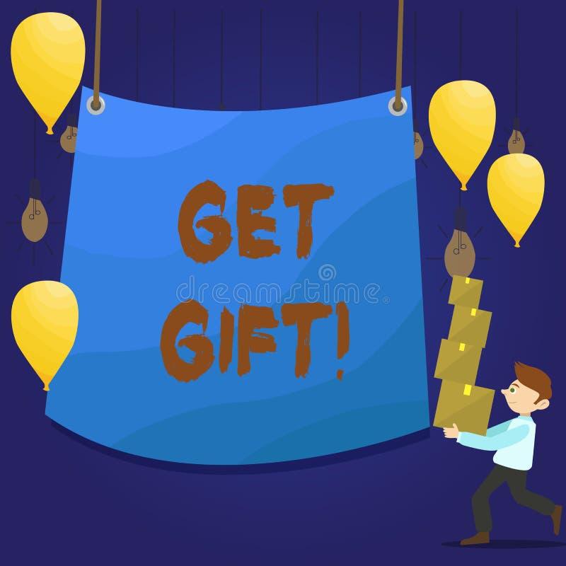 Пишущ показ примечания получите подарок Фото дела showcasing что-то которое вы даете без получать что-нибудь в обмен человека иллюстрация вектора
