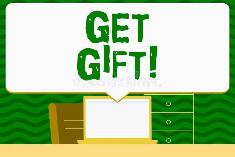 Пишущ показ примечания получите подарок Фото дела showcasing что-то которое вы даете без получать что-нибудь в обмен бесплатная иллюстрация