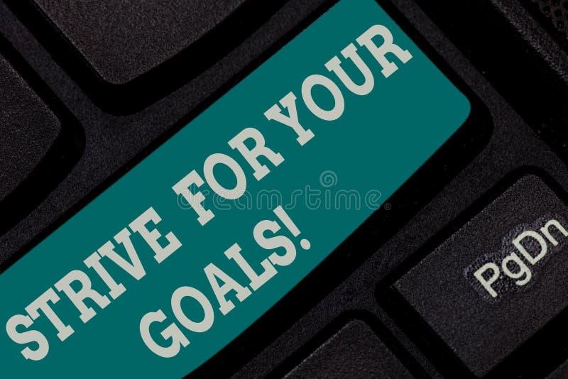 Пишущ показ примечания устремитесь для ваших целей Бой фото дела showcasing для вашей мотивации успеха принять действие стоковые фотографии rf