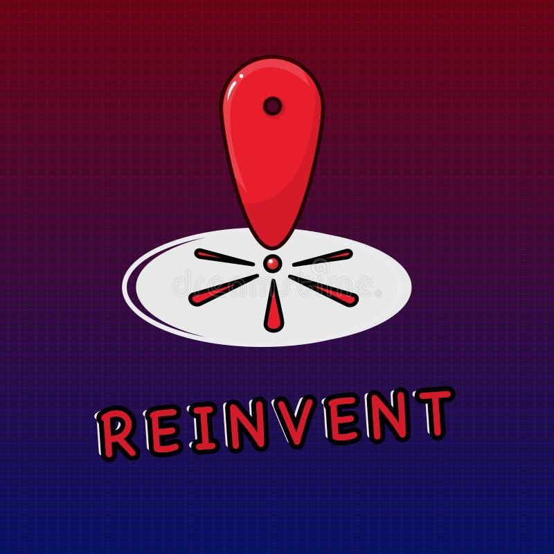Пишущ показ примечания Reinvent Изменение фото дела showcasing что-то так много что оно кажется, что будет полностью ново бесплатная иллюстрация