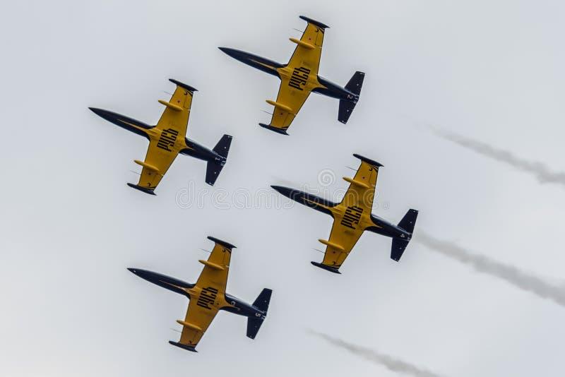 Пилотажная группа «Русь» стоковая фотография
