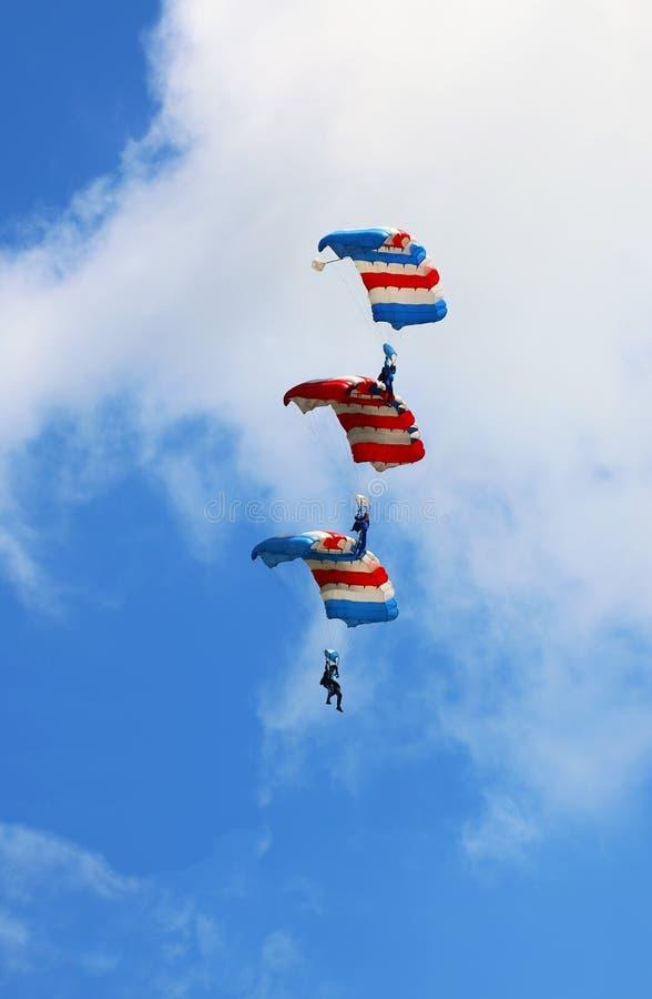 Пилотажный skydiving стоковое изображение