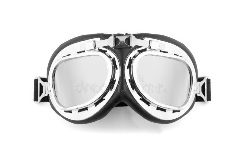 Пилотные стекла изолированные на белизне стоковое изображение
