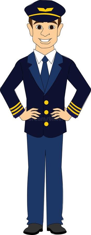 Пилот коммерческой авиакомпании бесплатная иллюстрация