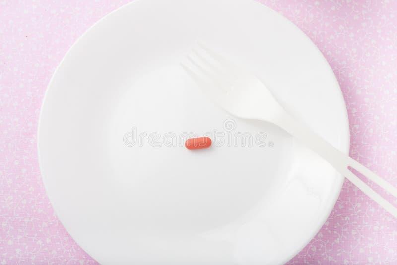 Пилюлька диеты чуда стоковая фотография rf