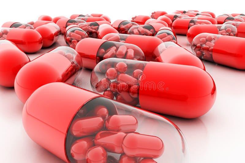 Пилюльки разнообразия Капсулы витамина 3d стоковая фотография rf