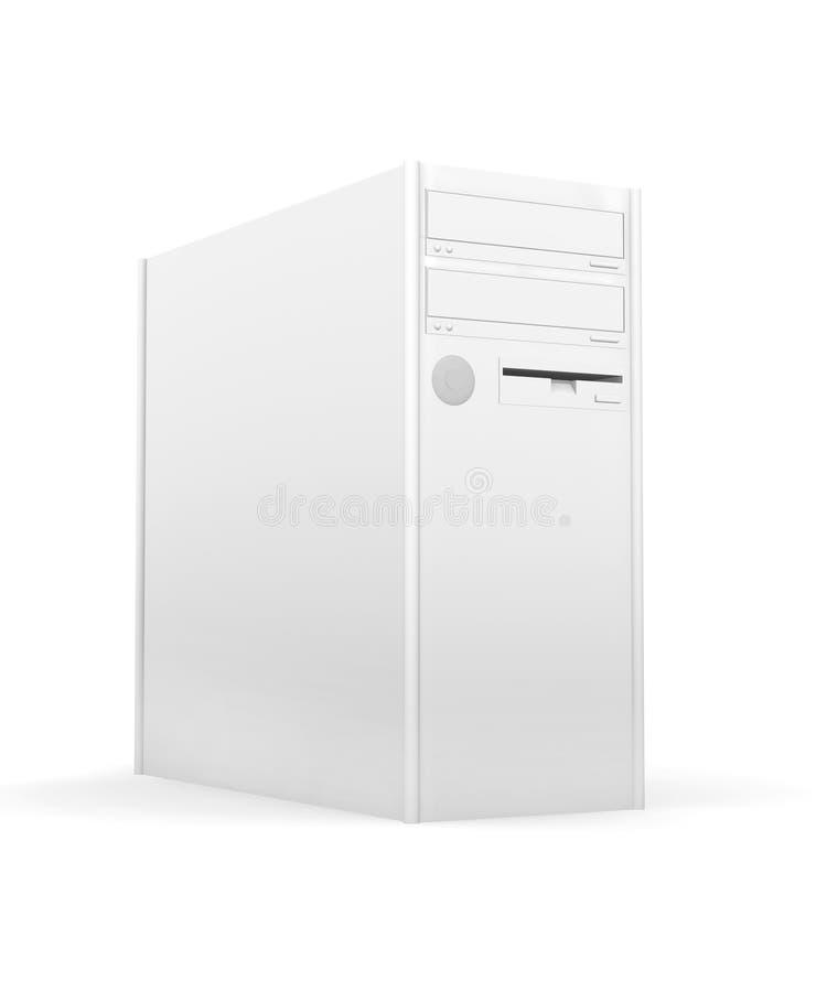 ПК изолированный настольным компьютером иллюстрация штока