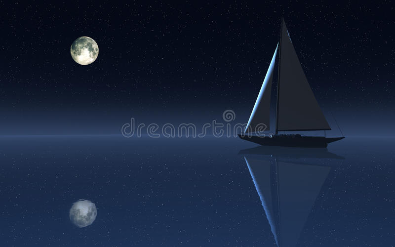 Плавание ночного неба стоковая фотография rf