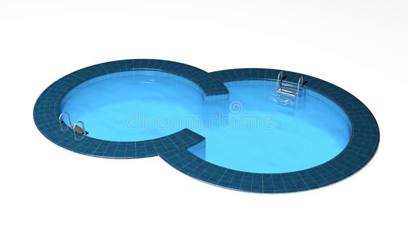 Плавательный бассеин иллюстрация вектора