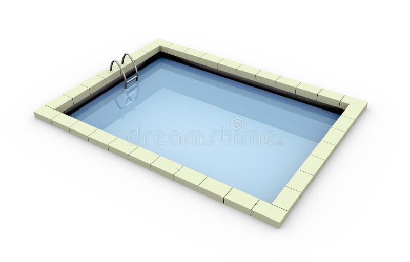плавательный бассеин 3d иллюстрация вектора
