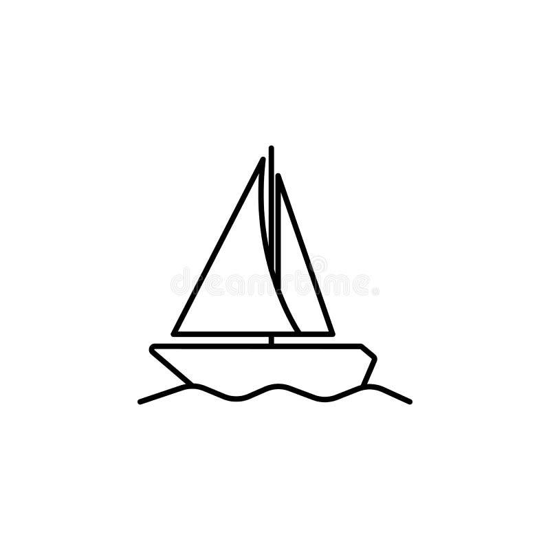 Плавать значок яхты Элемент простого значка для вебсайтов, веб-дизайна, передвижного app, графиков информации Тонкая линия значок бесплатная иллюстрация