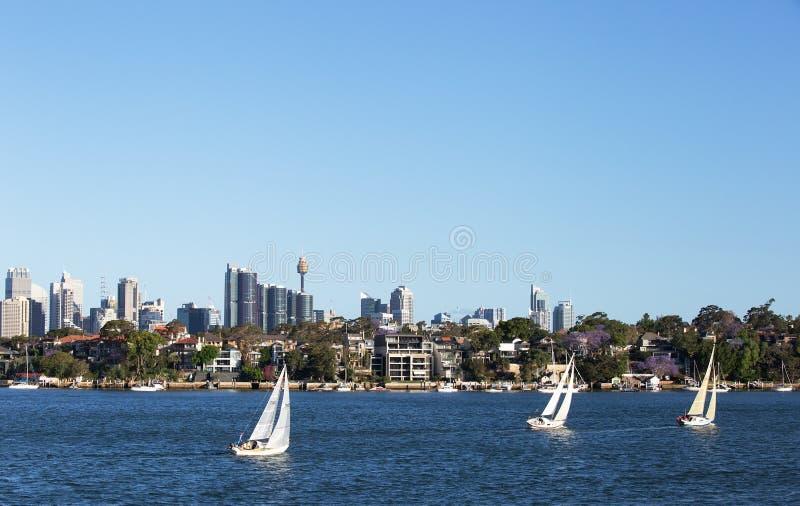 Плавающ на Parramatta, Сидней, Виктория стоковые фотографии rf