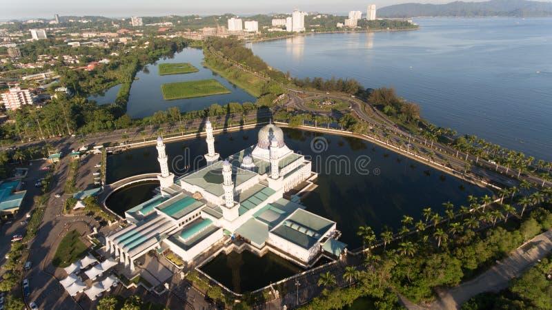 Плавая мечеть Kota Kinabalu стоковая фотография