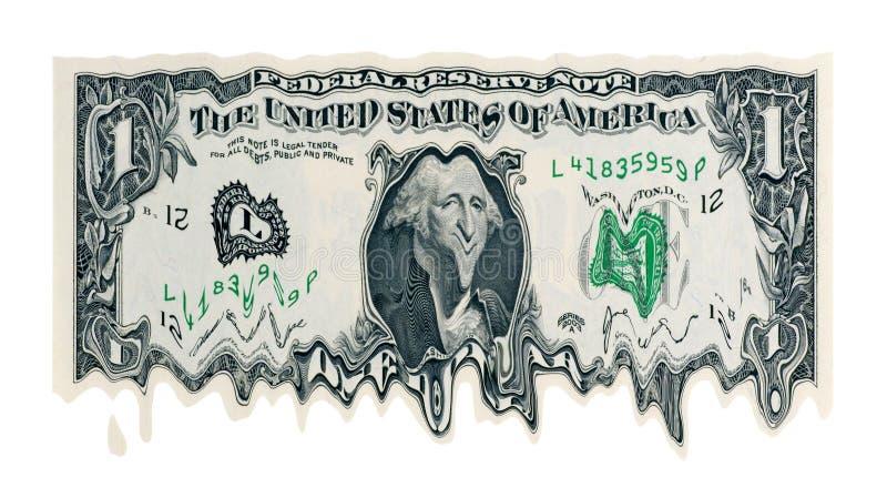 плавить доллара стоковые фото