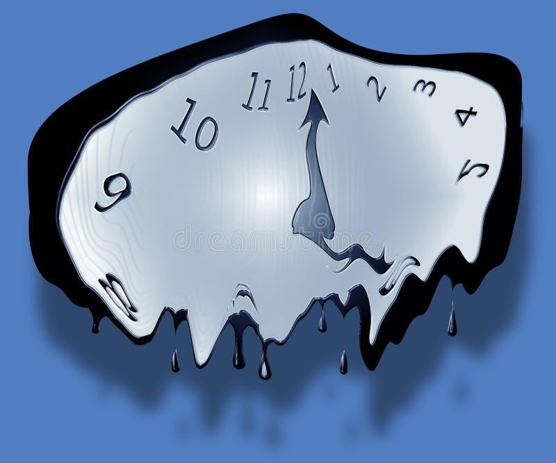 плавить часов иллюстрация вектора