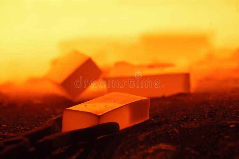 плавя сталь стоковое фото rf