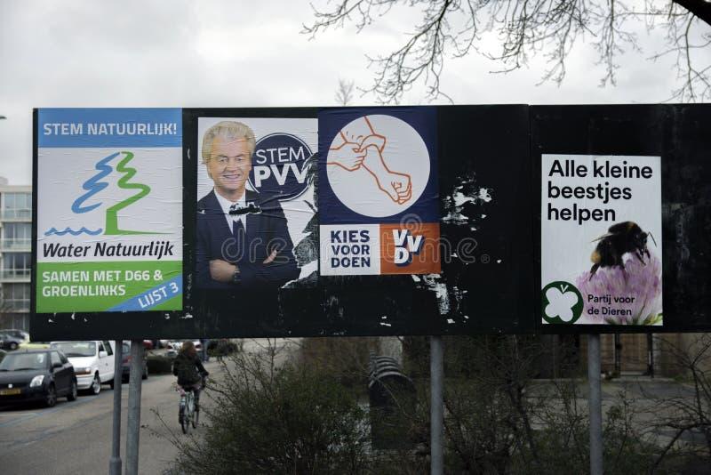 Плакаты избрания на Duivendrecht Нидерланд 2019 стоковое фото rf