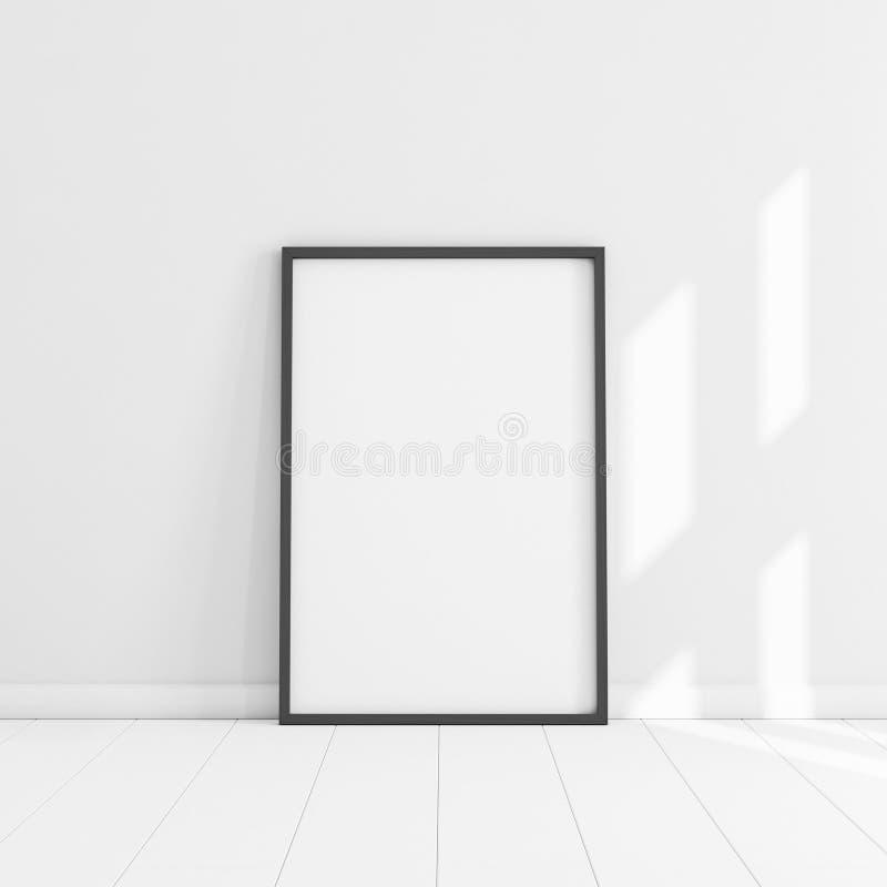 Плакаты изолированные белизной с пустым модель-макетом рамки стоковые фотографии rf