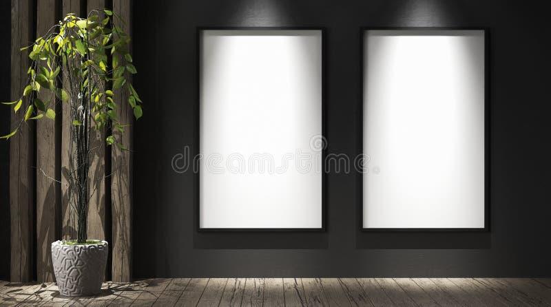 Плакаты модель-макета в галерее стоковая фотография rf