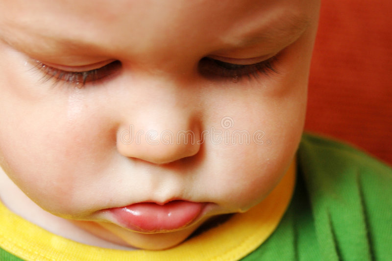 плакать младенца унылый стоковая фотография