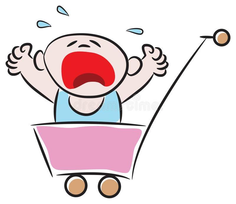 плакать младенца иллюстрация вектора