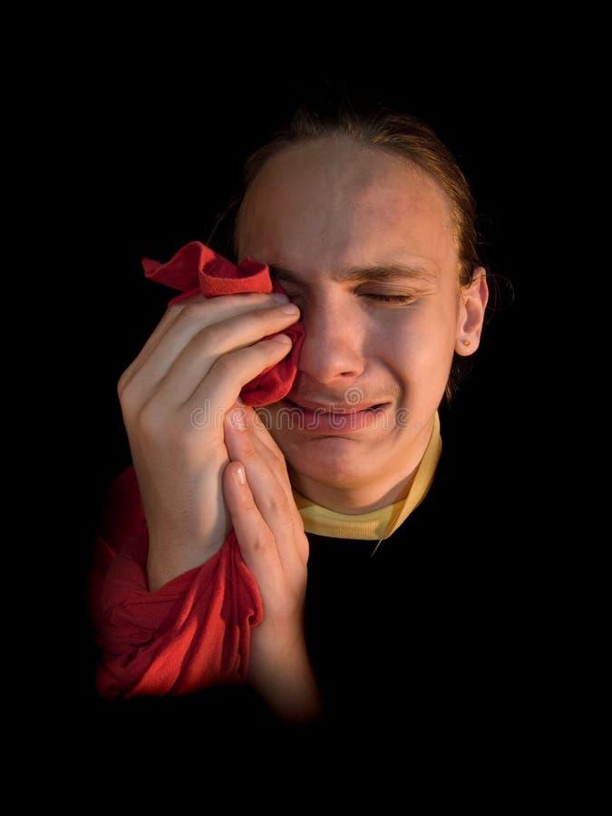 плакать стоковая фотография rf
