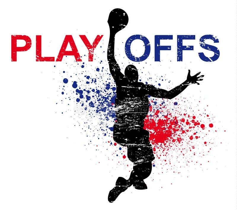 плакат баскетбола стоковые изображения rf