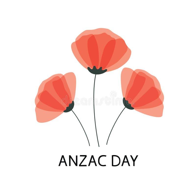 Плакат вектора дня Anzac забудьте чтобы Бумага отрезала красный цветок мака - символ международного дня памяти иллюстрация вектора