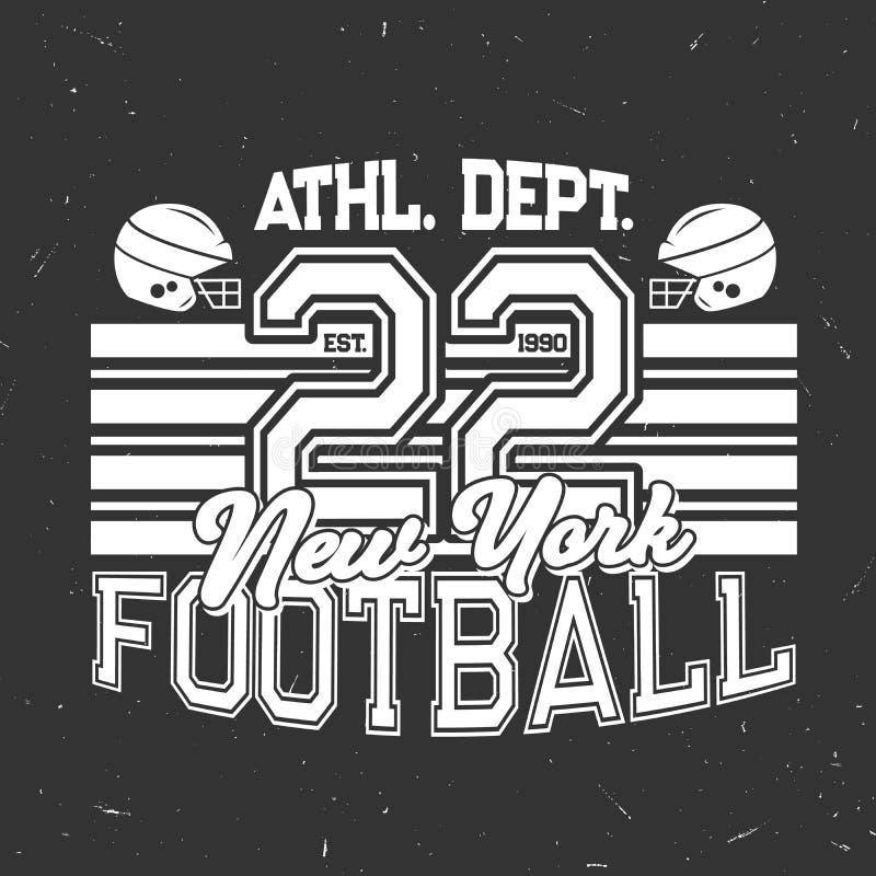 Плакат вектора grunge спортивного клуба футбола ретро бесплатная иллюстрация