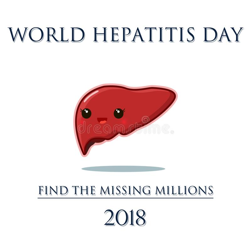 Плакат дня гепатита мира бесплатная иллюстрация