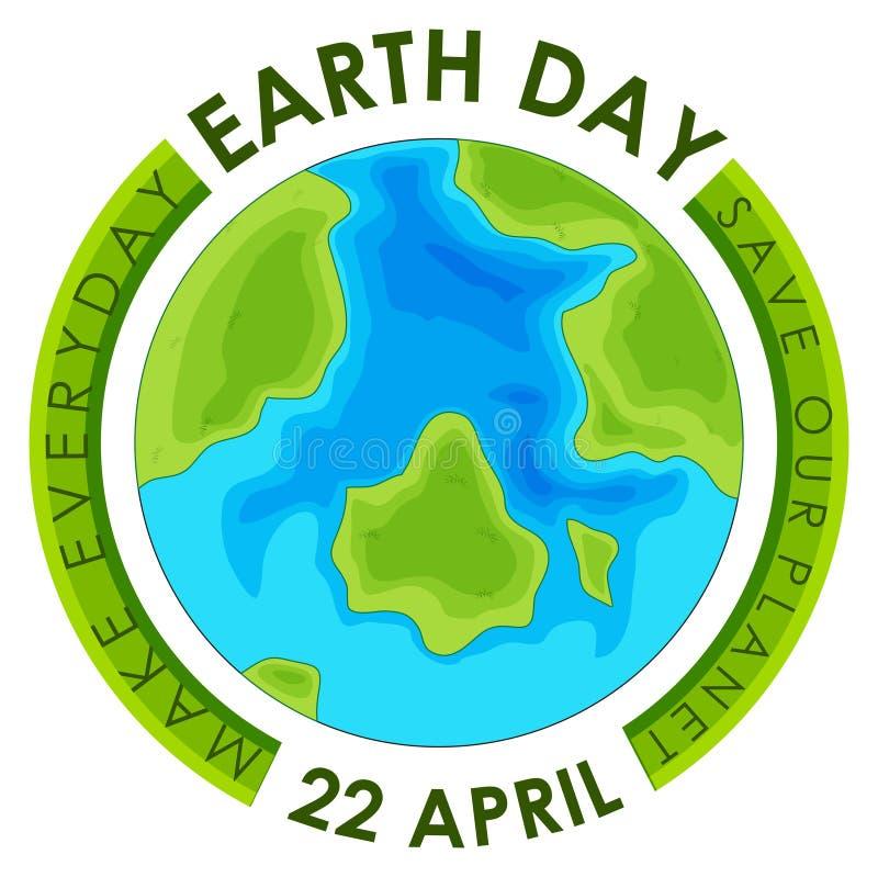 Плакат дня земли концепции бесплатная иллюстрация