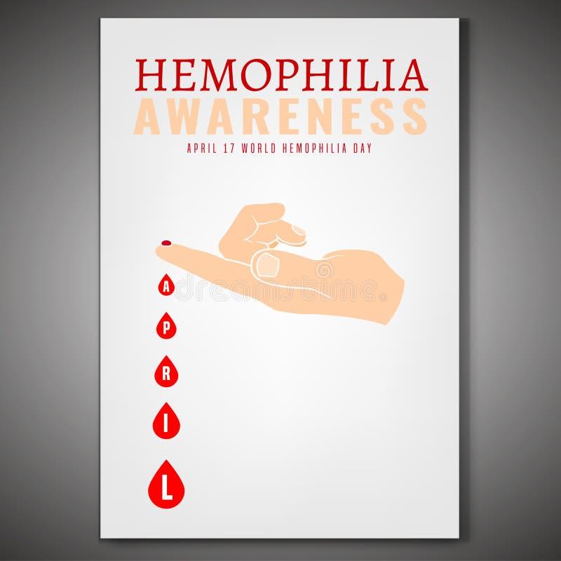 Плакат дня кровоточивости иллюстрация штока