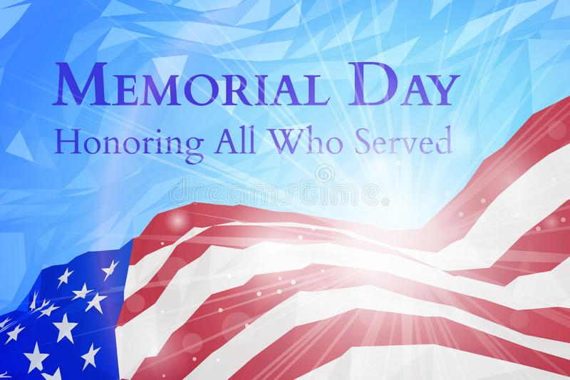 Плакат Дня памяти погибших в войнах США бесплатная иллюстрация