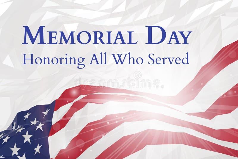 Плакат Дня памяти погибших в войнах США иллюстрация вектора
