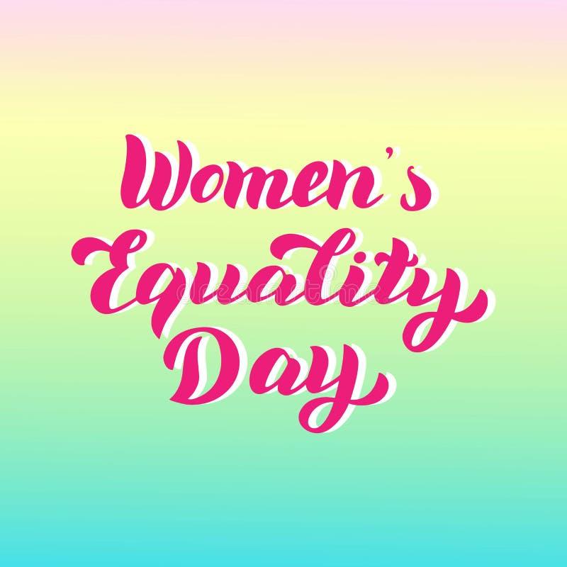 Плакат дня равности женщин Карта литерности оформления торжества Феминист цитата праздника иллюстрация вектора