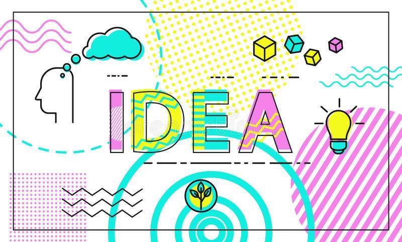 Плакат идеи с иллюстрацией вектора заголовка бесплатная иллюстрация