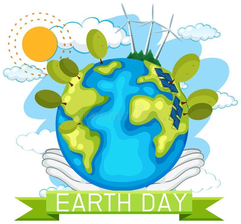 Плакат концепции дня земли иллюстрация вектора
