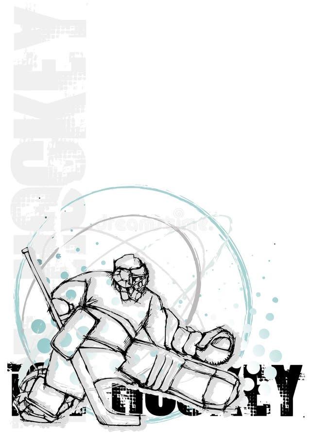 плакат льда хоккея круга предпосылки иллюстрация штока