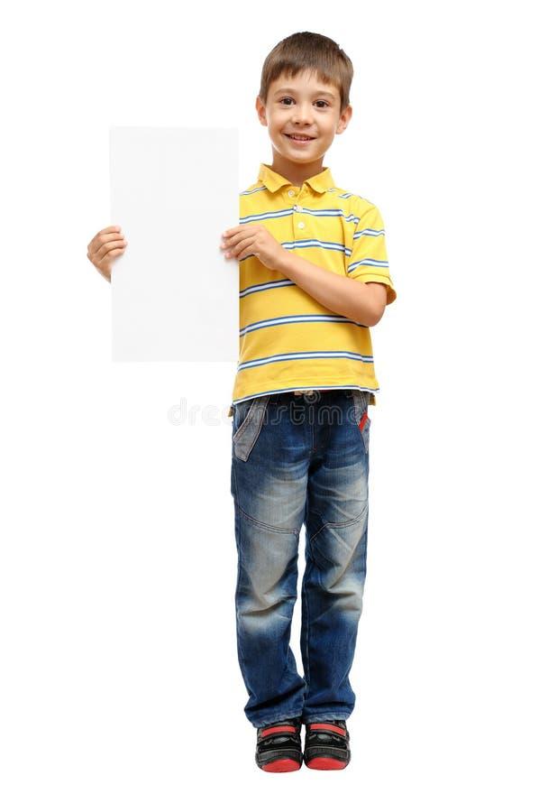 плакат малыша удерживания стоковое фото rf