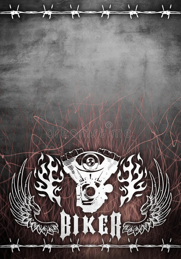 плакат мотоцикла grunge конструкции тяпки карточки бесплатная иллюстрация