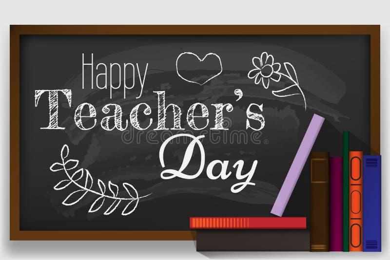 Плакат на счастливый день учителя s с славной и творческой бедой дизайна стоковое изображение