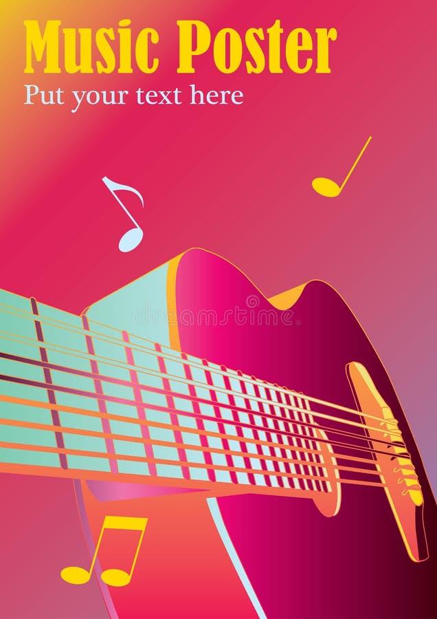 плакат нот предпосылки бесплатная иллюстрация