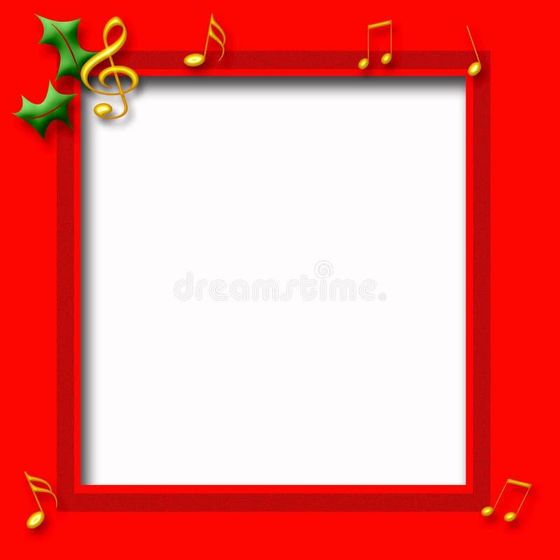 плакат нот рождества иллюстрация вектора
