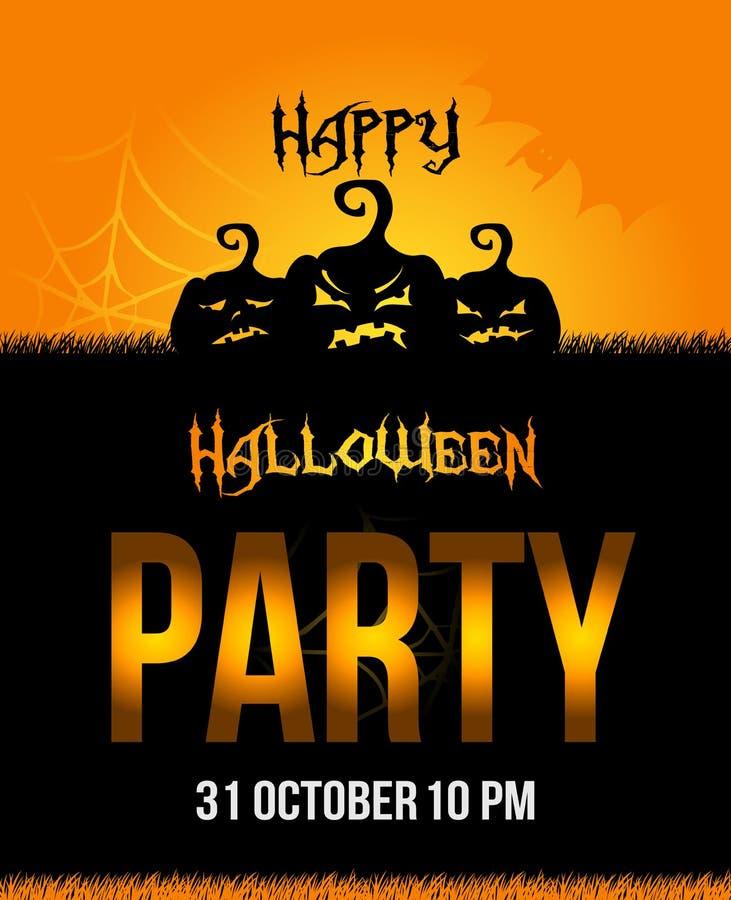 Плакат партии хеллоуина бесплатная иллюстрация