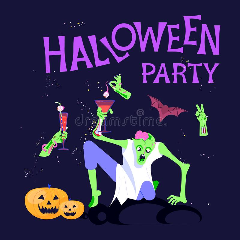 Плакат партии хеллоуина иллюстрация штока