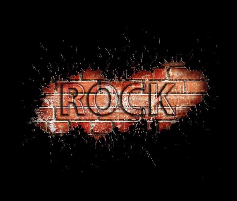 Плакат рок-музыки Grunge иллюстрация штока